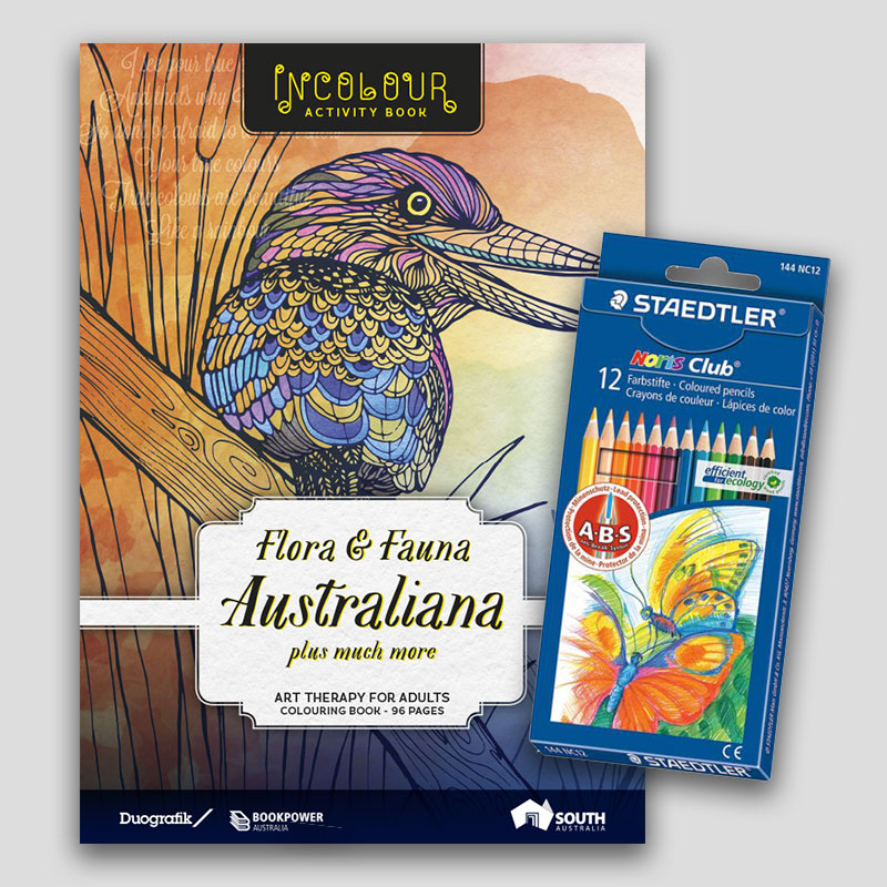 Adult Colouring Book Pencil Set